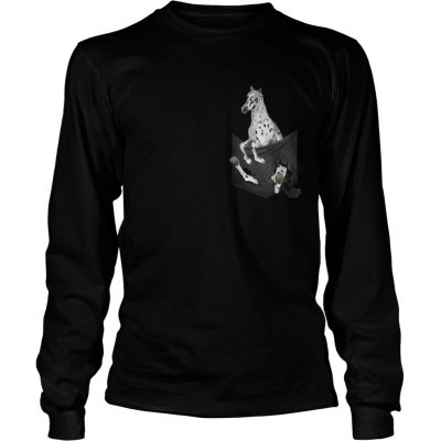 Appaloosa Horse in pocket shirt Longsleeve Tee Unisex