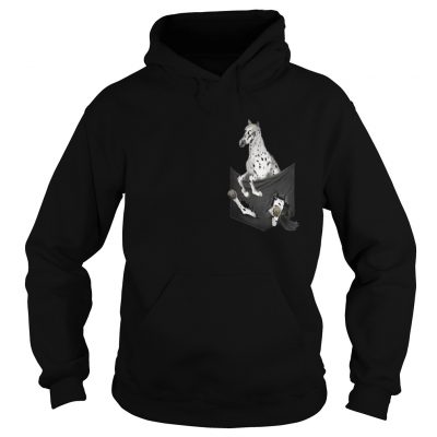 Appaloosa Horse in pocket shirt Ladies V-Neck