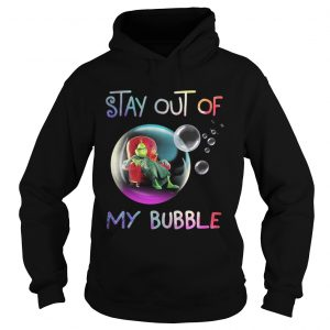 Grinch stay out of my bubble Christmas shirt Ladies V-Neck