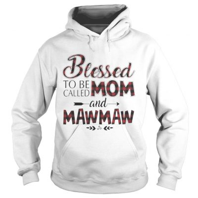 Blessed to be called mom and Maw Maw shirt Ladies V-Neck
