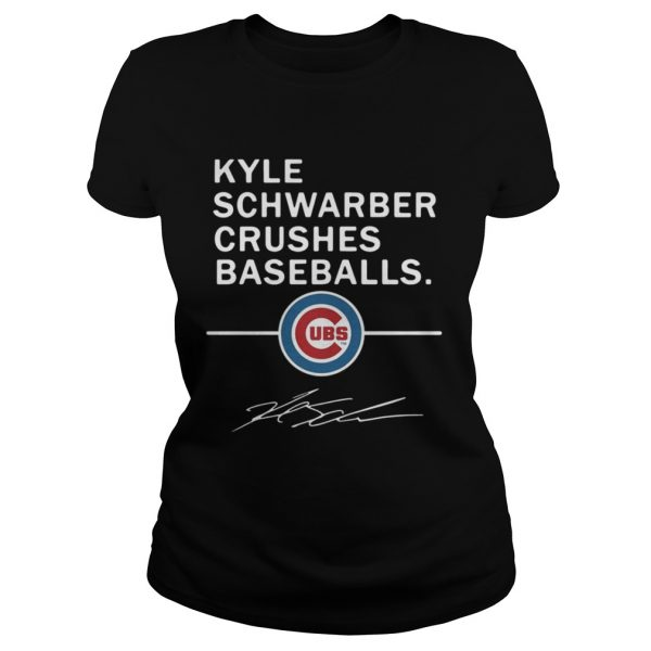 Kyle Schwarber Crushes baseball Chicago Cubs shirt Classic Ladies Tee