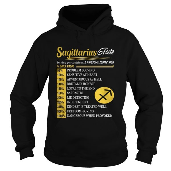 Sagittarius facts I awesome zodiac sign shirt Hoodie