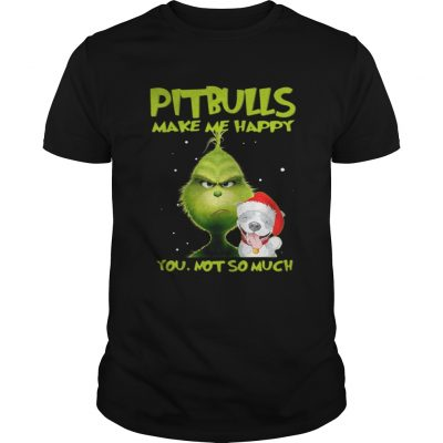 Grinch Pitbulls make me happy you not so much sweater