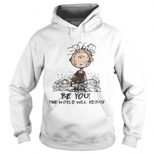 Charlie Brown Be you the world will adjust shirt Ladies V-Neck
