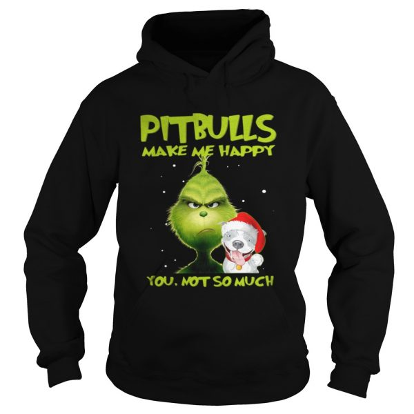 Grinch Pitbulls make me happy you not so much sweater Ladies V-Neck