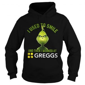 Grinch I used to smile and then I worked at Greggs shirt Ladies V-Neck