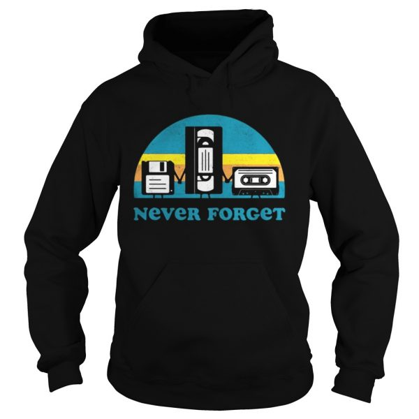 Never Forget Sarcastic Graphic Music Novelty shirt Ladies V-Neck