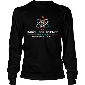 March for Science 2019 NYC New York City longsleeve tee