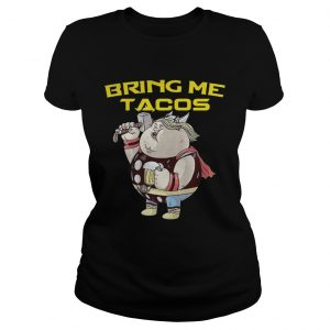 Avengers Endgame fat Thor and beer bring me tacos ladies tee
