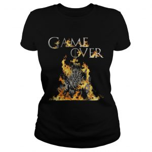 The Iron Throne burnt game over Game of Thrones  Classic Ladies