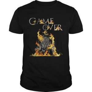 The Iron Throne burnt game over Game of Thrones  Unisex