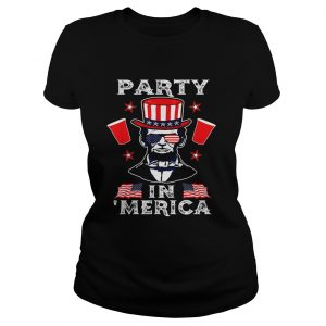 4th Of July Abraham Lincoln Party In Merica Independence Day  Classic Ladies