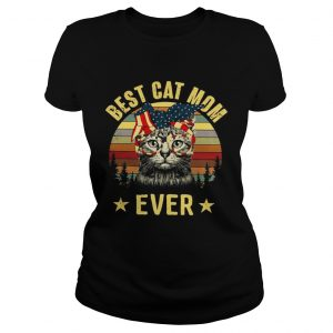 Best cat mom ever Independence Day  Classic Ladies