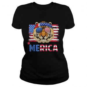 Original Funny Hanging With Tiger Mom Merica 4th July Shirt Classic Ladies