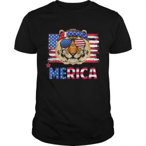 Original Funny Hanging With Tiger Mom Merica 4th July Shirt Unisex