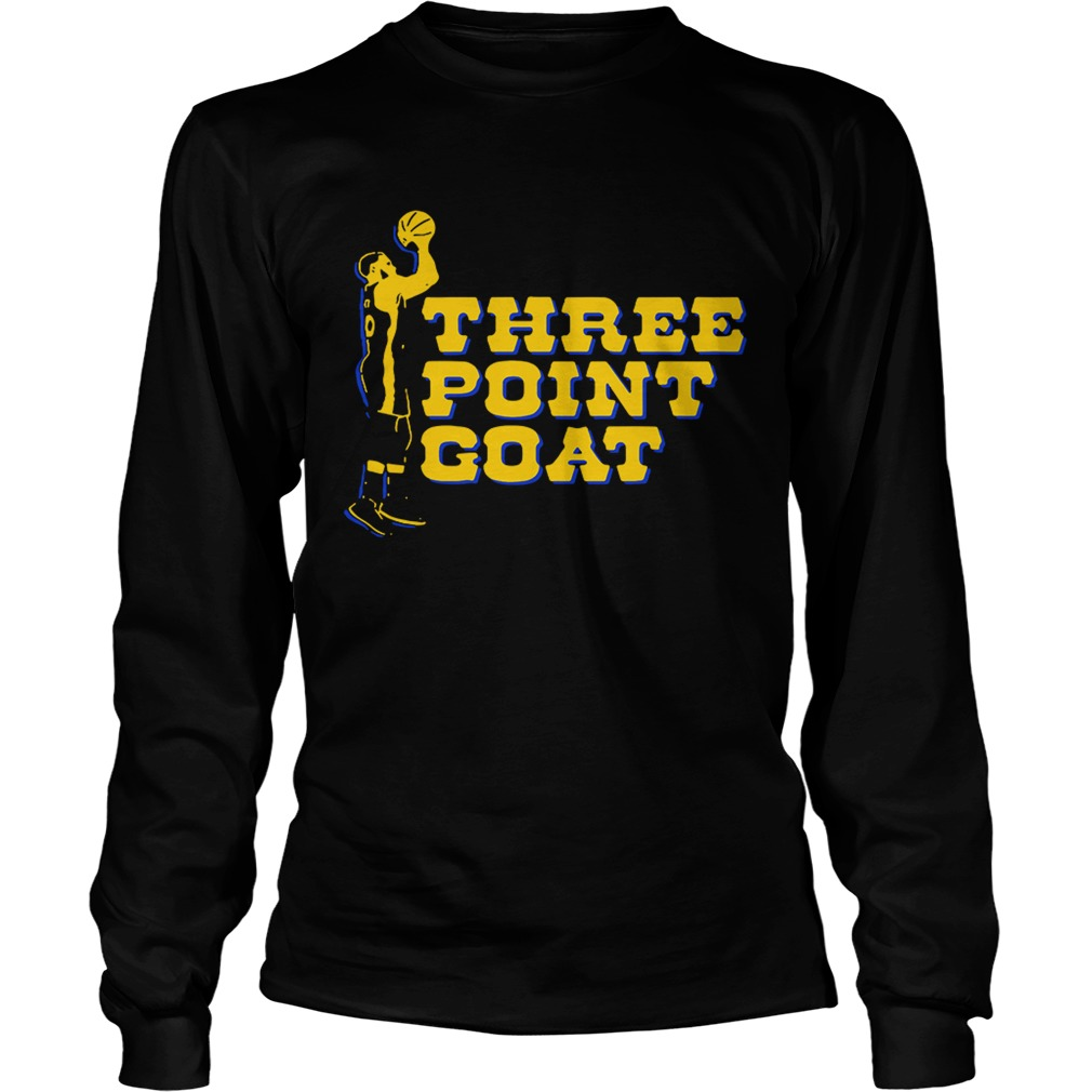 huge discount 325cd ae594 Steph Curry three point goat Golden State Warriors shirt