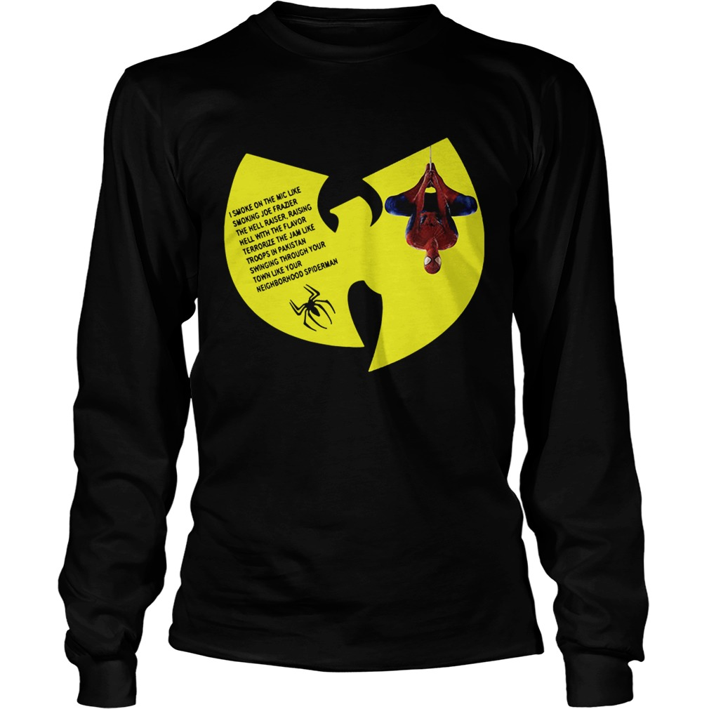 WuTang Clan Spiderman Protect Ya Neck lyrics I smoke on the mic LongSleeve