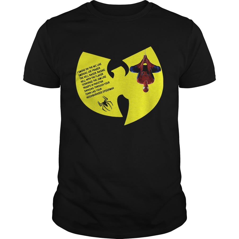 WuTang Clan Spiderman Protect Ya Neck lyrics I smoke on the mic Unisex