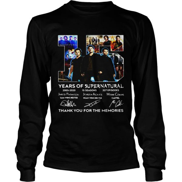 15 years of Supernatural thank you for the memories signatures  LongSleeve