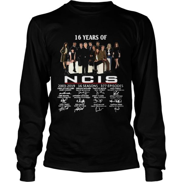 16 years of NCIS 20032019 signatures  LongSleeve