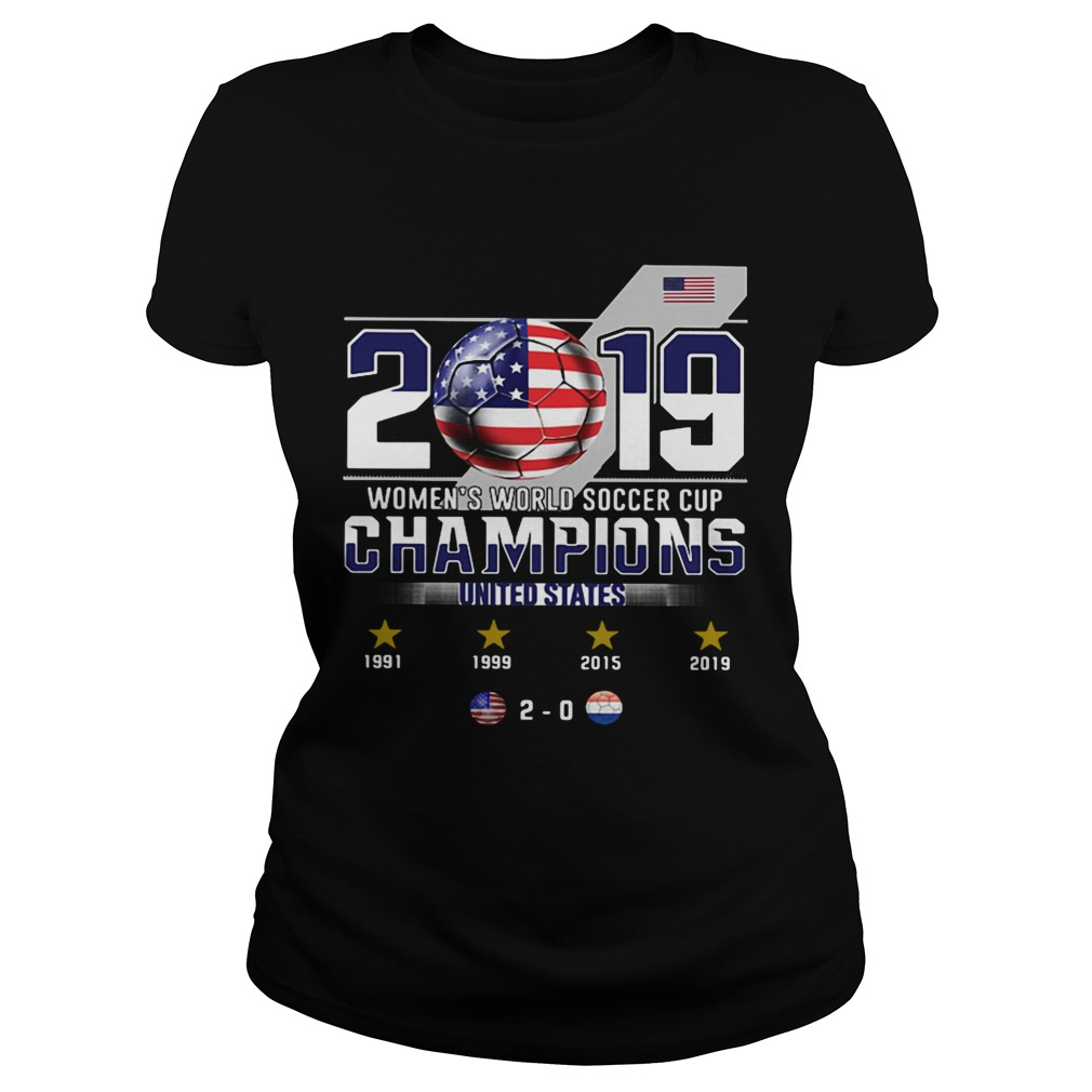 2019 Womens World Soccer Cup Champions United States  Classic Ladies