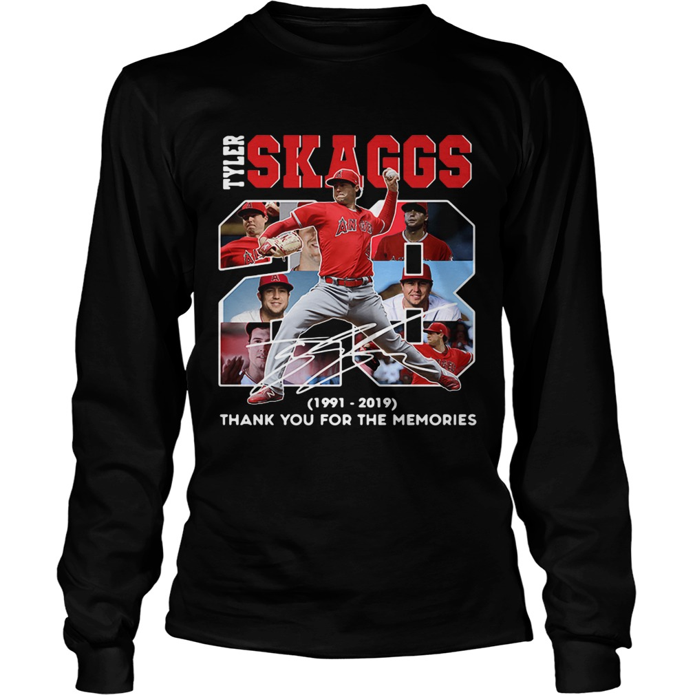 28 Years Tyler Skaggs 1991 2019 thank you for the memories  LongSleeve