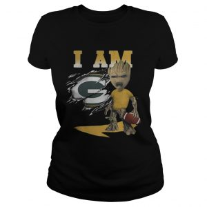 Baby Groot I Am Green Bay Packers Shirt Classic Ladies