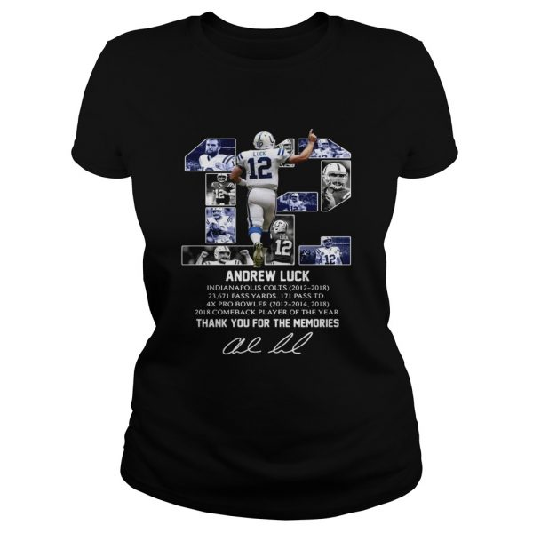 12 Andrew luck thank you for the memories signature  Classic Ladies