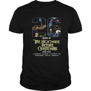 26 Years of The Nightmare Before Christmas 1983 2019  Unisex