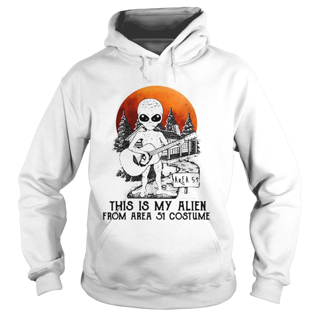 Alien play guitar this is my Alien from Area 51 costume  Hoodie