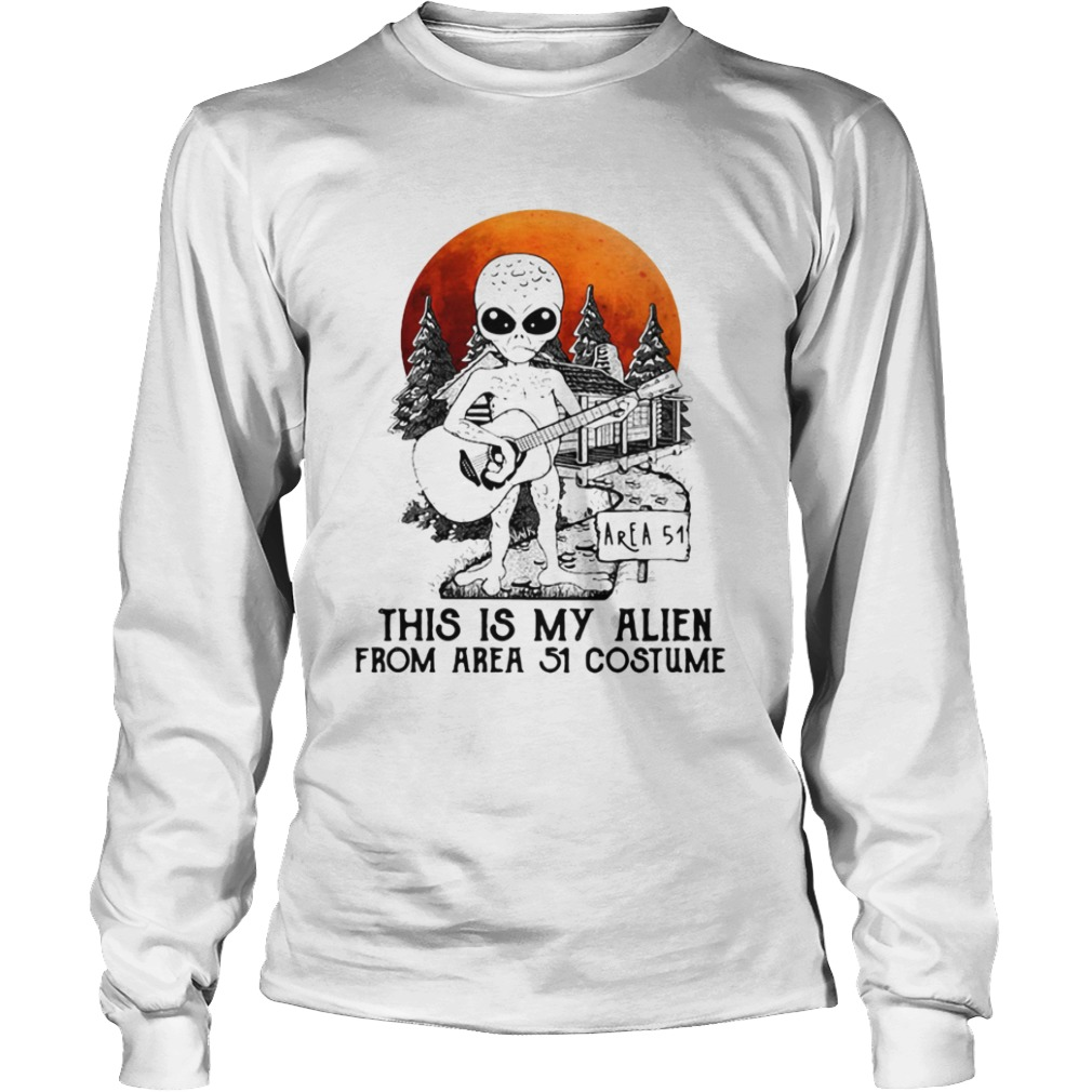 Alien play guitar this is my Alien from Area 51 costume  LongSleeve