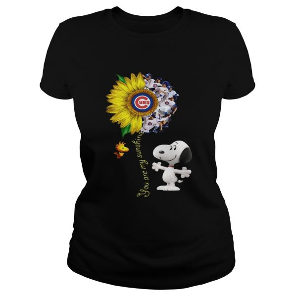 Snoopy and Woodstock you are my sunshine Chicago Cubs sunflower  Classic Ladies