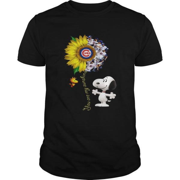 Snoopy and Woodstock you are my sunshine Chicago Cubs sunflower  Unisex