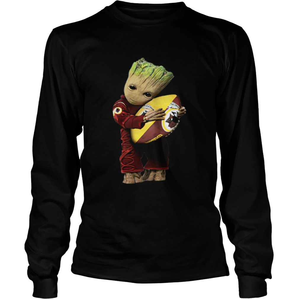 Groot hug Washington Redskins ball  LongSleeve