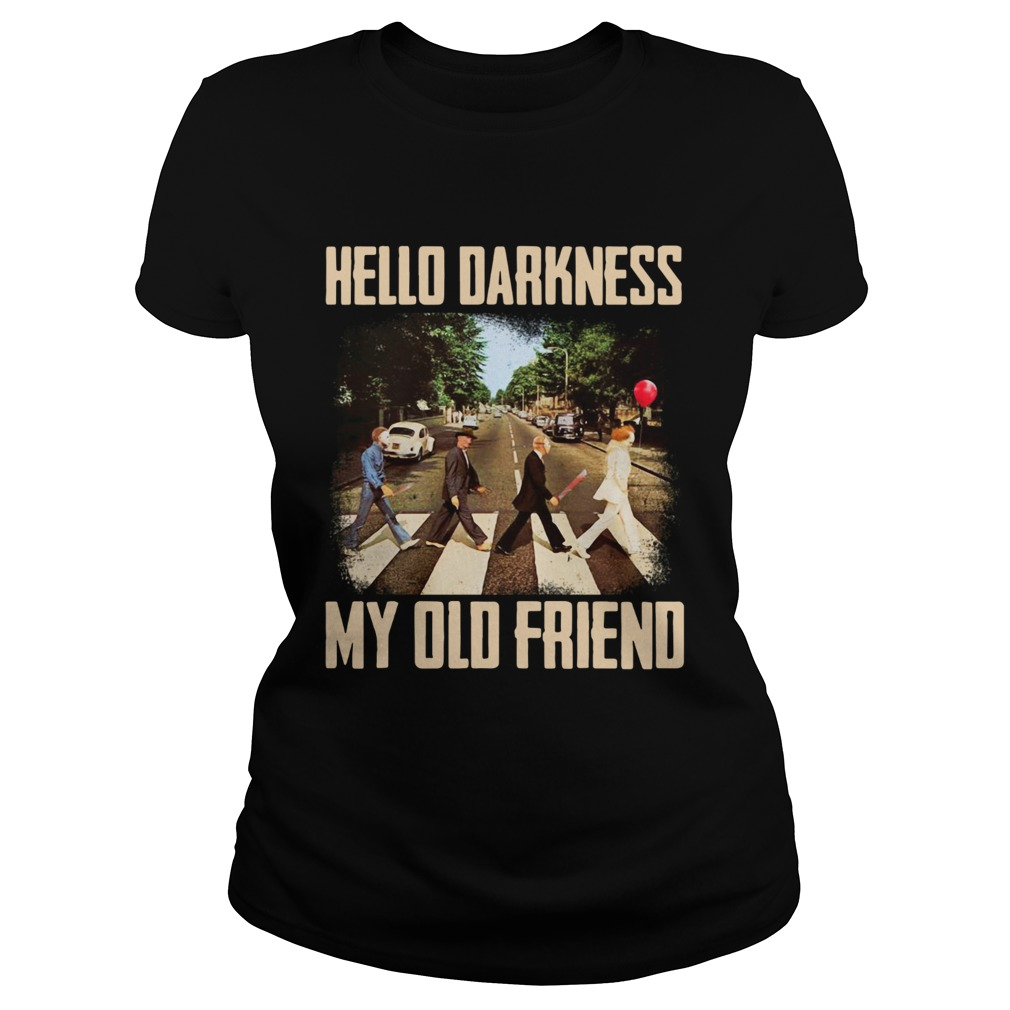 Horror character movie abbey road hello darkness my old friend  Classic Ladies