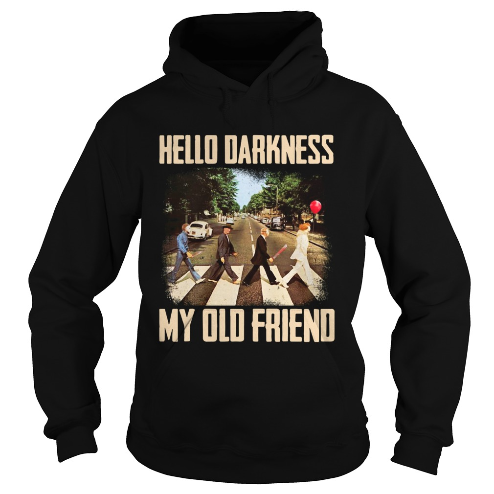 Horror character movie abbey road hello darkness my old friend  Hoodie