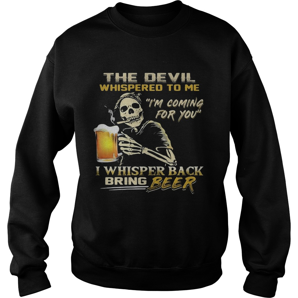 Jack Skellington I will drink beer here or there or everywhere  Sweatshirt