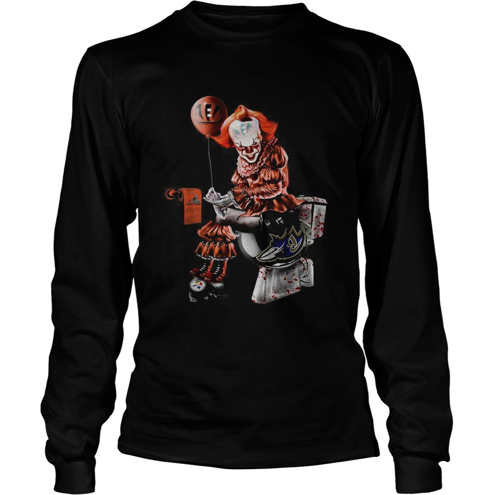 Pennywise Cincinnati Bengals Cleveland Browns Pittsburgh Steelers and Baltimore Ravens toilet  LongSleeve