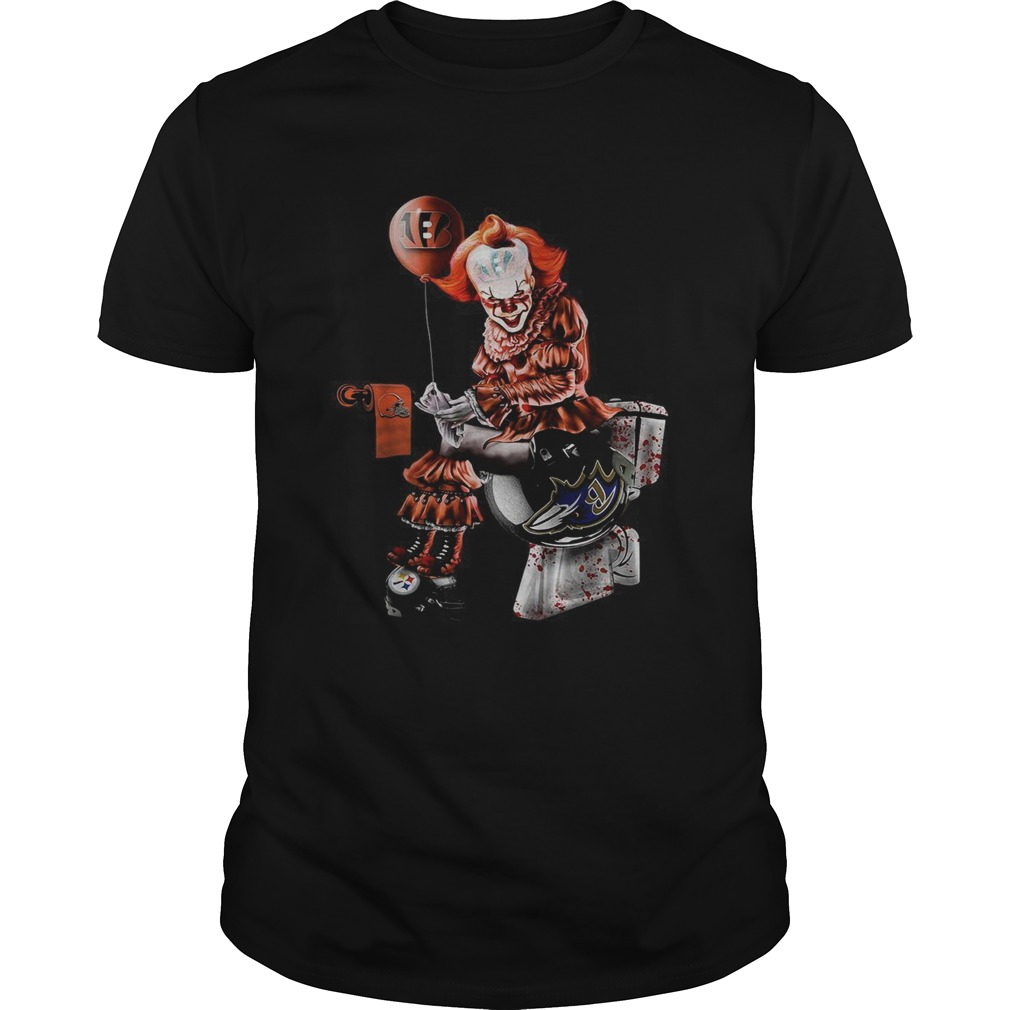 Pennywise Cincinnati Bengals Cleveland Browns Pittsburgh Steelers and Baltimore Ravens toilet  Unisex