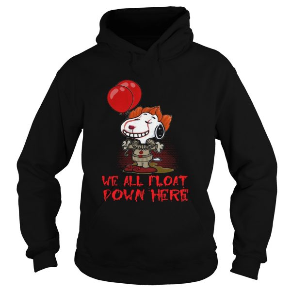 Pennywise and Snoopy we all float down here  Hoodie