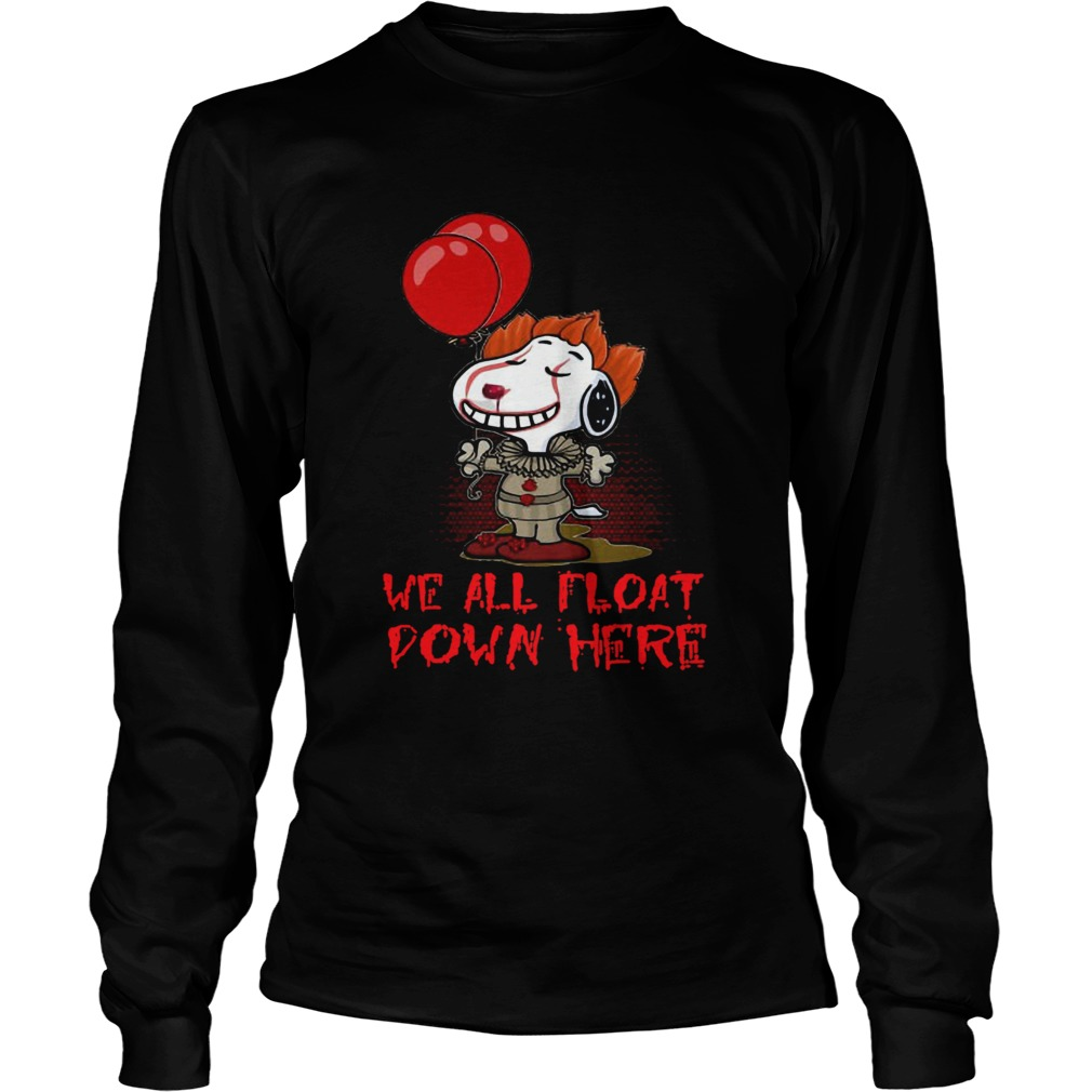 Pennywise and Snoopy we all float down here  LongSleeve