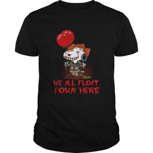 Pennywise and Snoopy we all float down here  Unisex