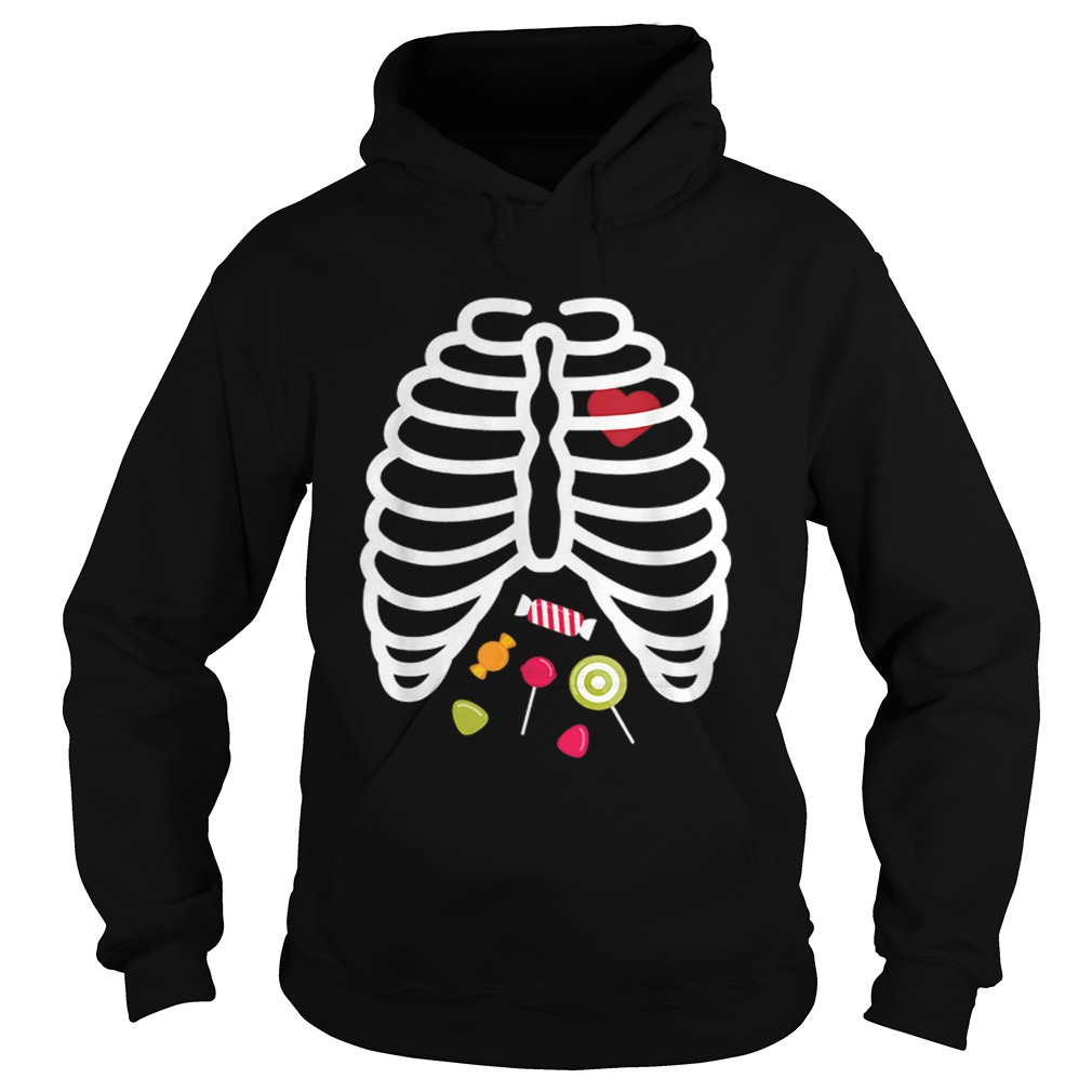Beautiful Skeleton Rib Cage Heart Candy Cute Adult Kids  Hoodie