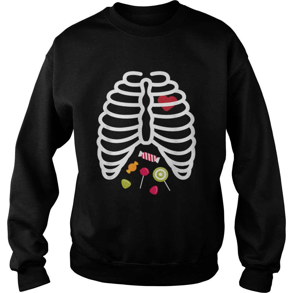 Beautiful Skeleton Rib Cage Heart Candy Cute Adult Kids  Sweatshirt