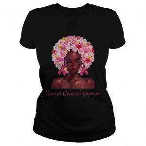 Breast Cancer Warrior black women floral hair  Classic Ladies