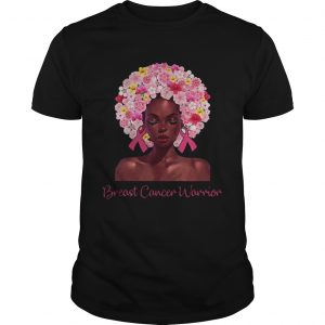 Breast Cancer Warrior black women floral hair  Unisex