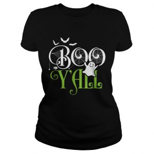 Funny Boo YallFunny Halloween Costume Scary Ghost Tee  Classic Ladies