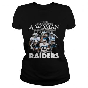 Never underestimate a woman who understands football and loves Raider  Classic Ladies