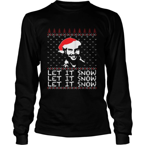 Pablo Escobar let it snow Christmas ugly  LongSleeve