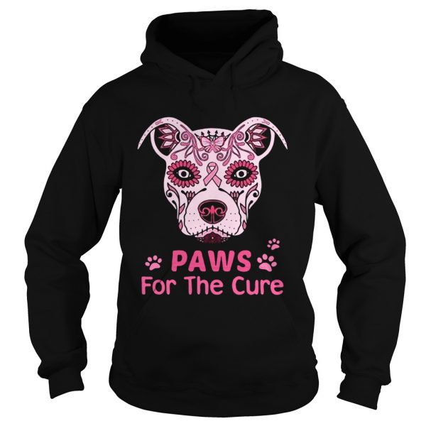 Paws for the cure pit bull poco loco sugar skull breast cancer  Hoodie